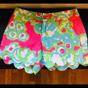 EUC Lilly Pulitzer buttercup pink shorts size 2/4